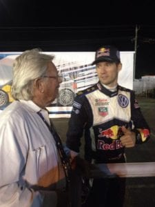 Sebastien Ogier with Adrian
